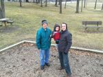 Brisk trip to the playground where Benjamin conquered his fears of the shaky bridge with Pops' help.