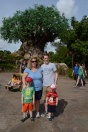 Posing in front of the Animal Kingdom tree