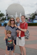 Early morning EPCOT arrival