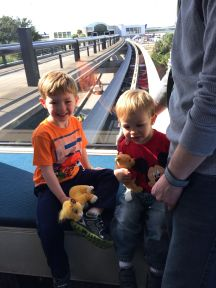 "Riding the ""monorail"" at the Orlando airport"