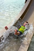 After being a bit hesitant to try it, Ben LOVED the water slide and went on it over and over