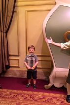 """This was a proud moment for me - Lucas was too scared to participate in Enchanted Tales with Belle during our first trip. This year, he proudly played the role of the """"salt shaker"""""""
