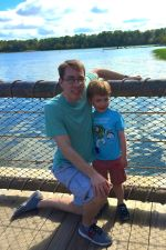 On the boat dock at Wilderness Lodge for the last time!